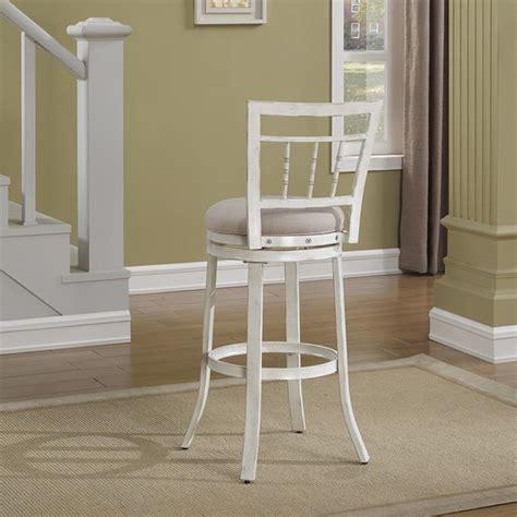 antique white swivel bar stools palazzo swivel bar stool antique white woven fabric