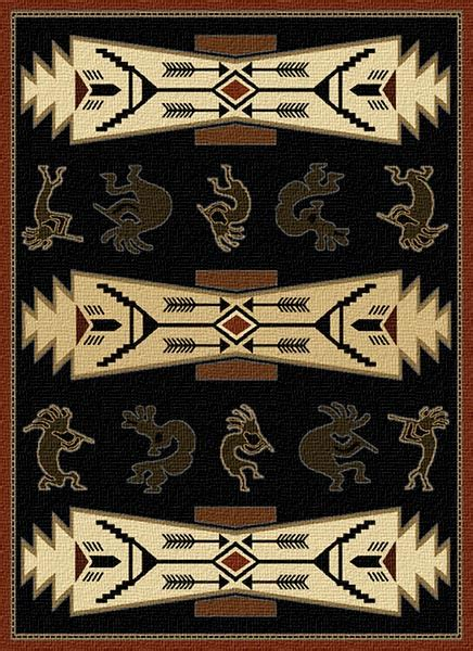 kokopelli rug westwind southwestern rug collection cabin place