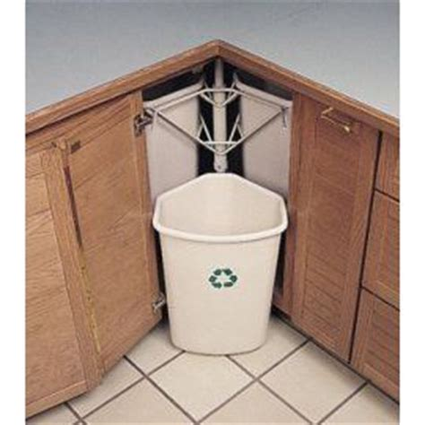 kitchen recycle bin lazy susan corner cabinet hinge yay or nay under sink garbage can