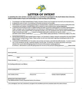letter of intent template 2 national letter of intent template business 1405