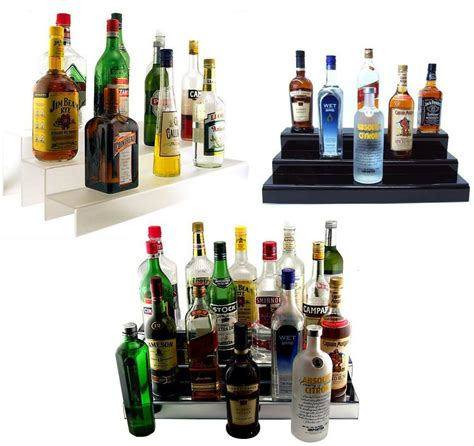 liquor bottle shelf    tier translucentblack