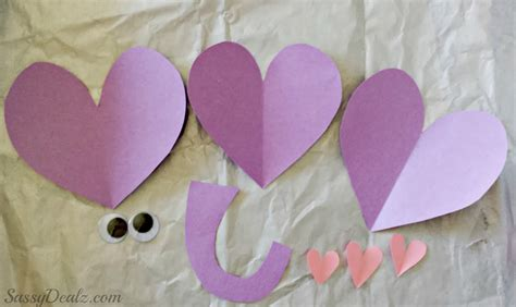 Paper Valentines Crafts - valentines day elephant craft for toilet paper roll