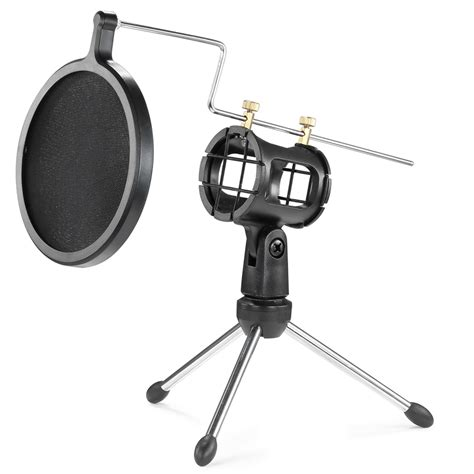 Stand Microphone Tripod Pop Filter Mikrophone Universal neewer microphone shock mount kit pop filter desktop