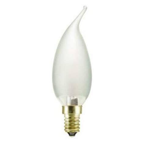 Candle Light Bulbs by 40 Watt Ses E14mm Frosted Flared Candle Light Bulb