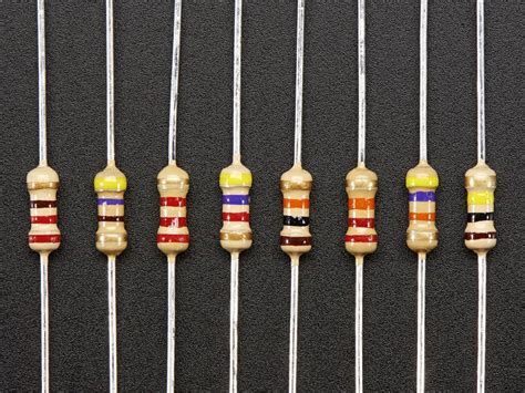 what are resistors through resistors 220 ohm 100k ohm 5 1 4w packs of 25 id 2892 0 00 adafruit