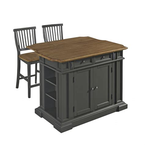 americana kitchen island with 2 stools homestyles