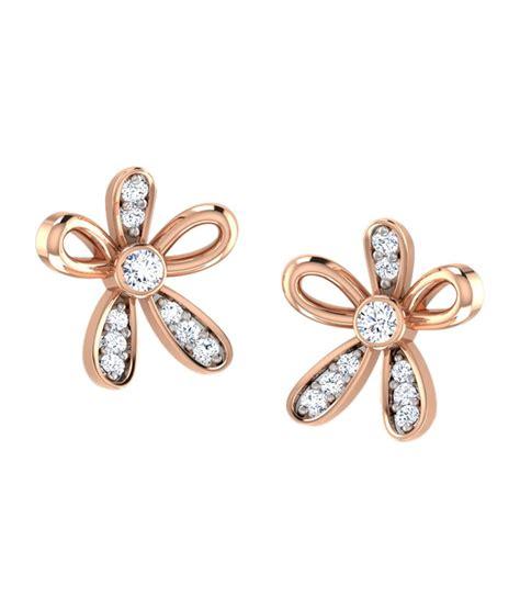 flower design earrings online caratlane floral design stud earrings buy caratlane