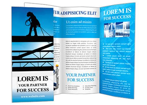 construction flyer templates construction site brochure template design id 0000000709