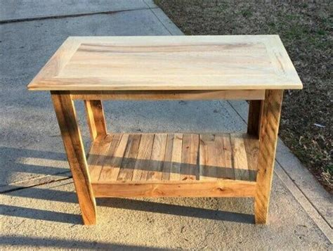 How To Make A Hallway Table Out Of Pallets