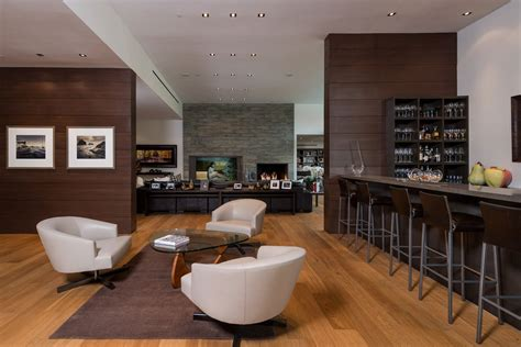Living Room And Bar Design by Wallace Ridge By Whipple Architects Keribrownhomes