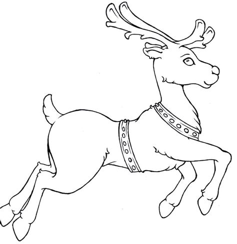 reindeer run christmas coloring pages kids coloring