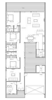 Narrow Lot Home Plans to narrow lot three bedrooms house plan house amp home pinterest