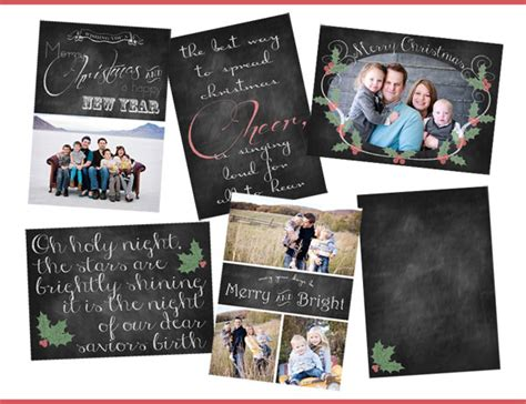 free photoshop card templates for photographers free chalkboard photo cards ashlee