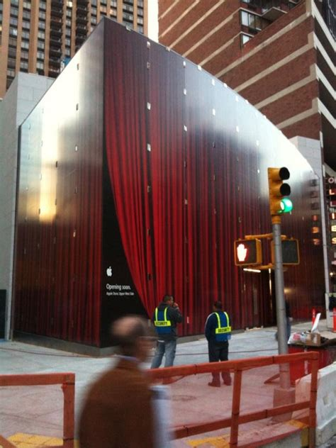 curtain store nyc what s behind the red curtain apple s newest nyc store