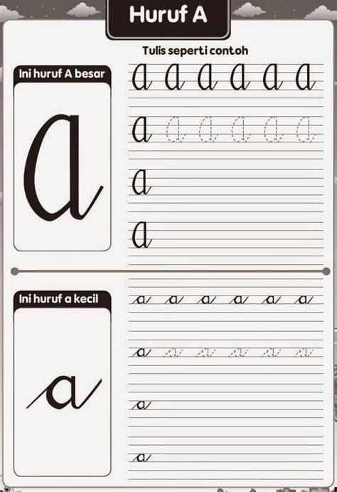 Buku Anak Mulai Mengenal Huruf Besar Dan Kecil belajar menulis huruf abjad tegak bersambung