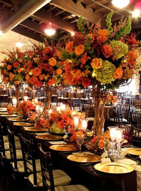 fall flowers centerpieces 10 lovely fall wedding centerpieces b lovely events