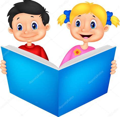 imagenes de niños jugando y leyendo ni 241 os leyendo un libro vector de stock 169 tigatelu 49603269
