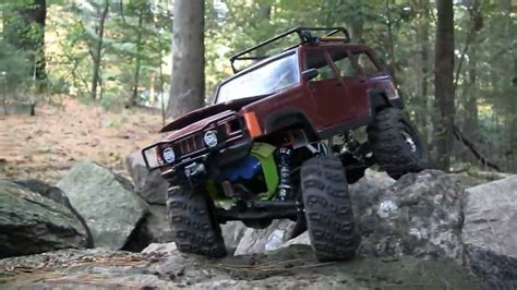 jeep rock crawler rc jeep cherokee xj rc losi mini rock crawler youtube