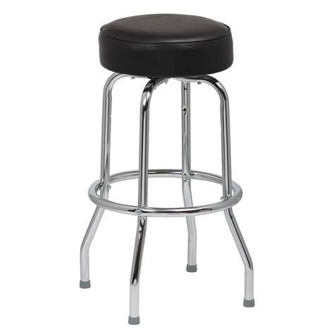 royal industries bar stools royal industries roy 7711 b single ring bar stool w chrome frame black vinyl seat
