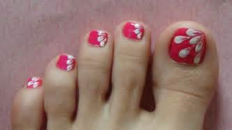 gallery for gt easy flower toenail designs