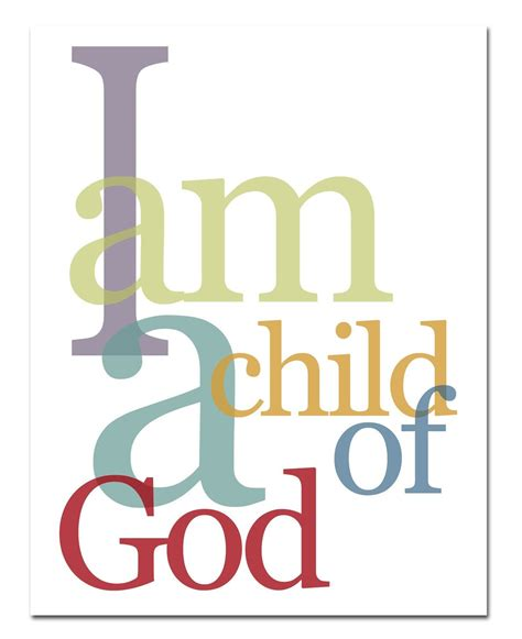 child of god i am a child of god 8x10 print multi