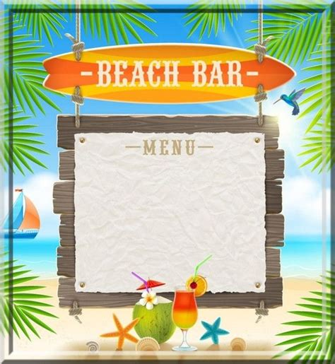 82 Best Summer Vacation Png Images On Pinterest Tropical Menu Template Free