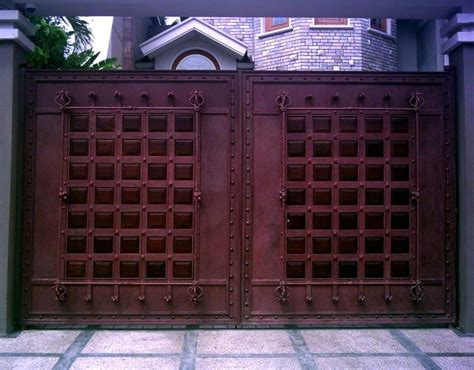 modern design of iron gate gate color design