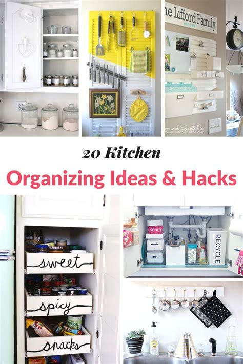 kitchen hacks 20 kitchen organizing ideas hacks mommy moment