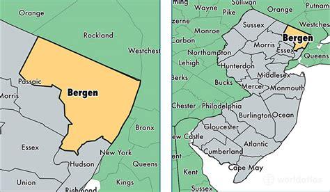 Bergen County Nj Records Map Of Bergen County Nj My