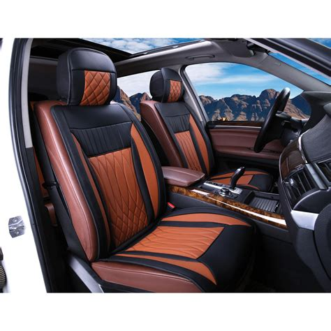 brown leather car seat covers saddle brown leather seat covers kmishn
