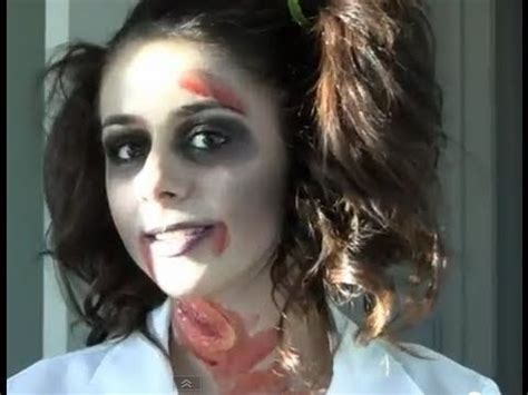 tutorial makeup zombie girl zombie school girl halloween tutorial youtube