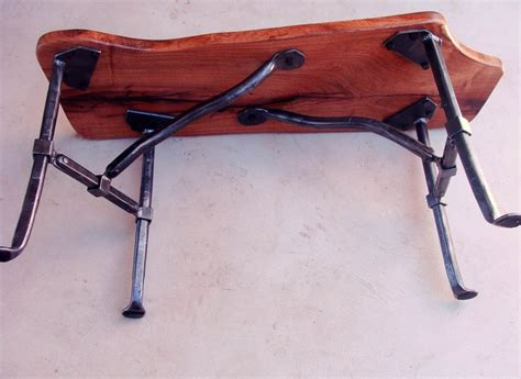 iron bench legs mesquite bench with forged iron legs by john millikin