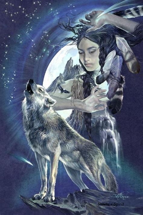 native american wolf spirit artworks indian and chang e 3 on pinterest