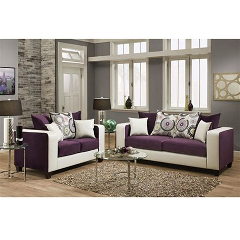 purple living room set riverstone implosion purple velvet living room set