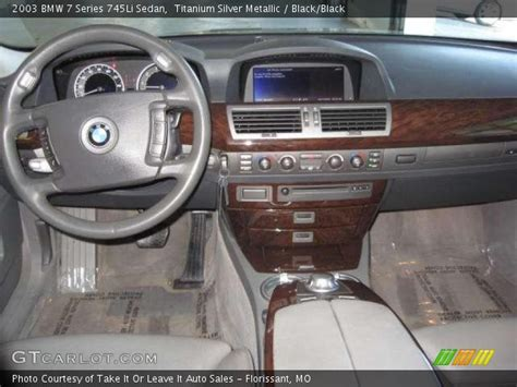 Bmw 7 Series 2003 Interior by Titanium Silver Metallic 2003 Bmw 7 Series 745li Sedan