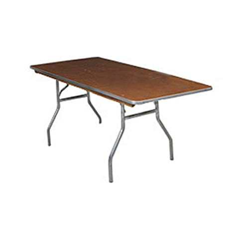 Natures Table Ta by Stained Plywood Top Folding Rectangle Table 4 X 30 W