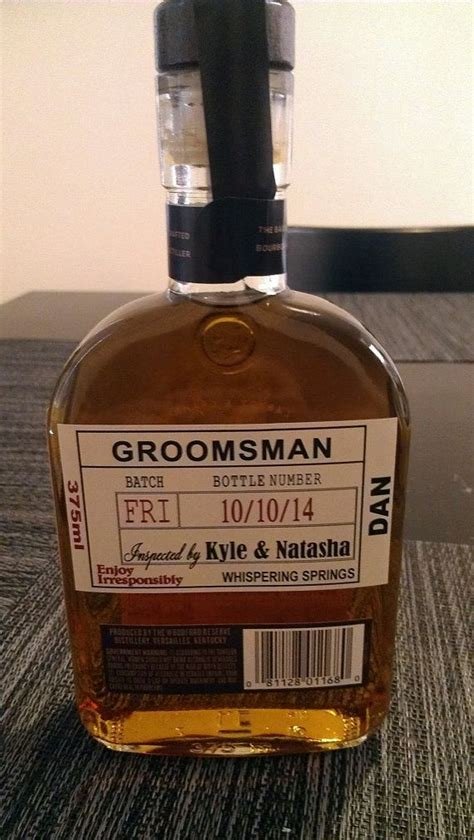 Custom Wedding Groomsman Liquor Labels for your Best Man