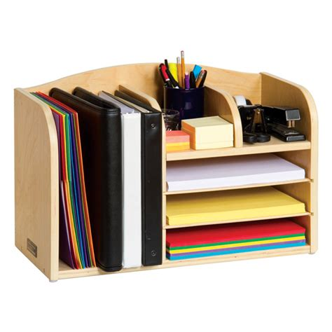 Student Desk Organizers S Assistant Desktop Organizer All Wood Organizer Keeps Books Binders Folders And