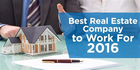 Best Real Estate Mba Schools by Best Real Estate Company To Work For