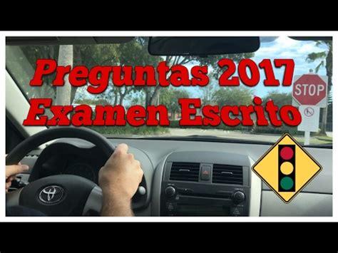preguntas y respuestas del dmv 2017 preguntas de examen para obtenci 243 n de licencia de conducir