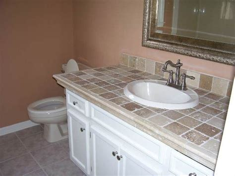 small bathroom countertop ideas 27 best tile countertops images on pinterest bathrooms