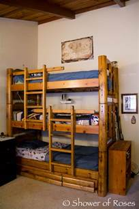 Small Space Shelves - saving space and staying stylish with triple bunk beds