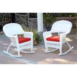 Wicker Patio Chairs Walmart 2 Ariel White Resin Wicker Patio Rocker Chairs Furniture Set Cushions Walmart