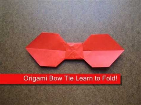 Easy Origami Bow Tie - how to make a simple origami bow tie