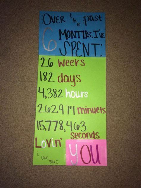 7 Ideas For An Anniversary by 25 Best Ideas About 6 Month Anniversary On 3