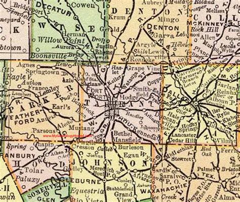 Tarrant County Warrant Search For Free Tarrant County 1897 Map