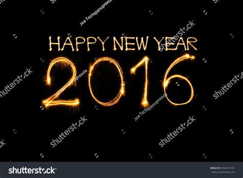 new year 2016 in writing happy new year 2016 write sparkler firework with