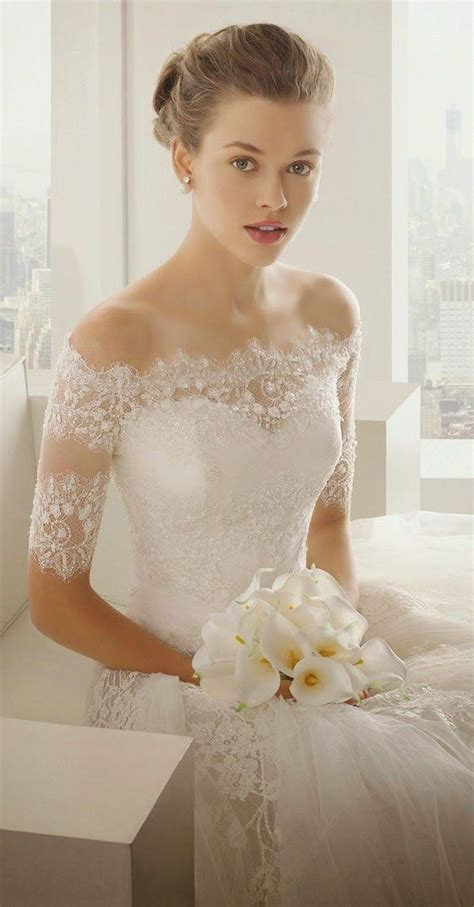 25  best ideas about Off shoulder wedding dress on