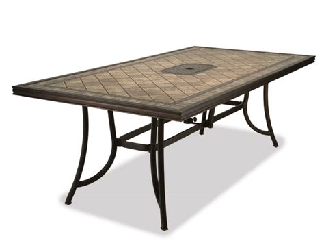 Tile Top Patio Dining Table by Porcelain Top Dining Tables Outdoor Dining Tables