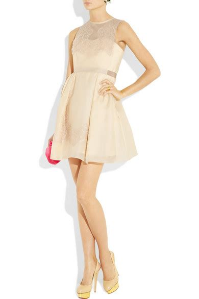 Friday Afternoon Dresses From Net A Porter by Carven Lace And Silk Organza Twill Dress Net A Porter